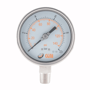 Manómetros Serie 74 - Total inox, con fondo expulsable